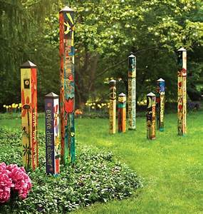 """""""Love Garden"""" 6' Peace Pole PP215 from Quirks of Art"""