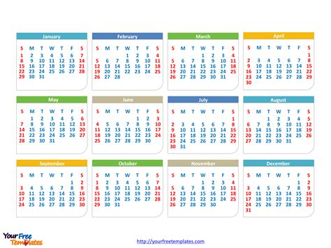 calendars powerpoint template powerpoint templates