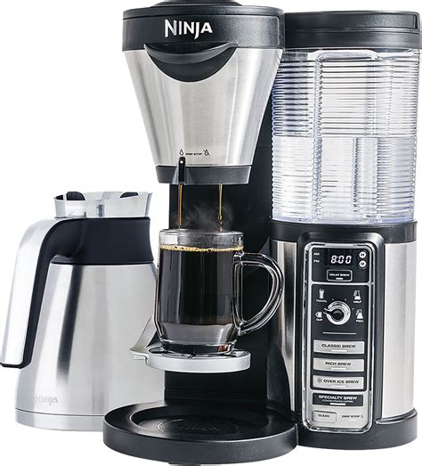 Since this a modern it has the ability to keep the coffee in the carafe for up to 4 hours and it automatically turns off cf091 uses a glass carafe, while the ninja coffee bar cf097 relies on a more sophisticated stainless steel. Ninja - Coffee Bar Brewer with Thermal Carafe - Stainless ...