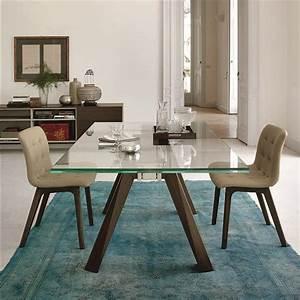 Table En Verre But : table en verre design pieds bois bontempi casa sur cdc design ~ Teatrodelosmanantiales.com Idées de Décoration
