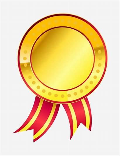 Cartoon Medal Round Yellow Ribbon Clipart Psd