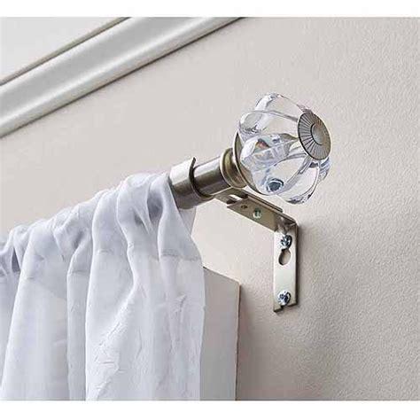 homes  gardens clear knob  curtain rod set