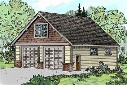 Garage Plan Plans Craftsman Living Architecturaldesigns