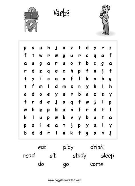 esl wordsearches