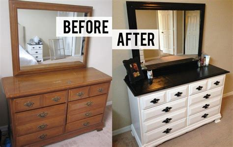 Bedroom Furniture Ideas Diy by Furniture Before And After Diy Bedroom Dresser Makeover