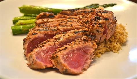 tuna steak a blog with no name grilled tuna steaks with roasted asparagus for two