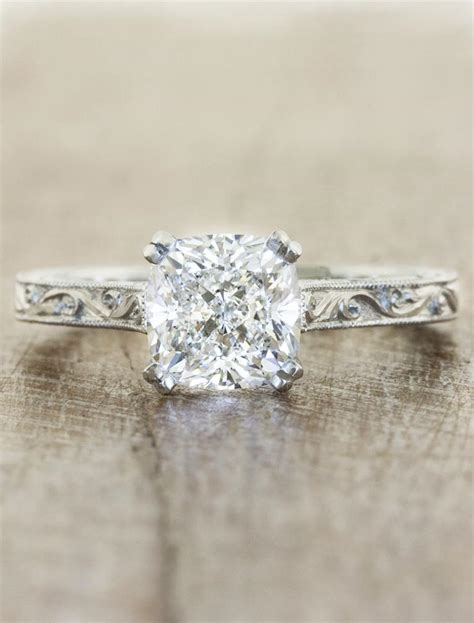 rayna vintage cushion cut diamond ring sapphire accents ken