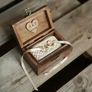 Personalized wedding ring box rustic wooden ring box for Wedding ring holder box