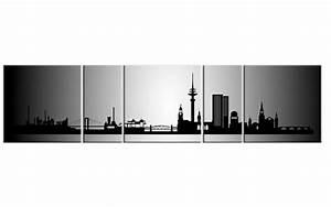 Leinwand Köln Skyline : panorama leinwand 5 bilder hamburg silber p500021 xxl skyline city keilrahmen ebay ~ Sanjose-hotels-ca.com Haus und Dekorationen
