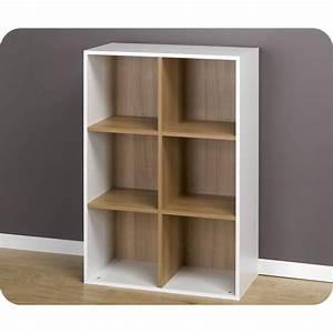 Etagere 6 Cases : etag res 6 cases de rangement blanches modulables achat vente meuble tag re etag res 6 ~ Teatrodelosmanantiales.com Idées de Décoration