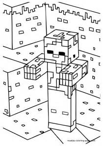 Minecraft Zombie Coloring Pages