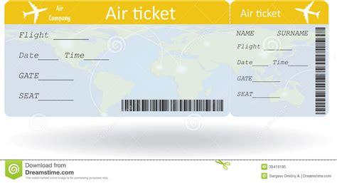 Blank Plane Ticket Clipart #2105004