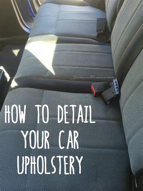 diy detail  cars upholstery