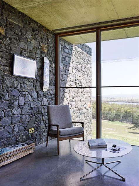 house  bluestone walls overlooks  landscape