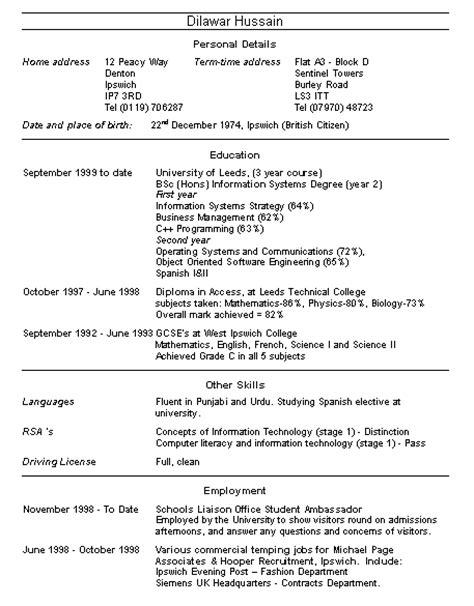 masters program masters program resume exle