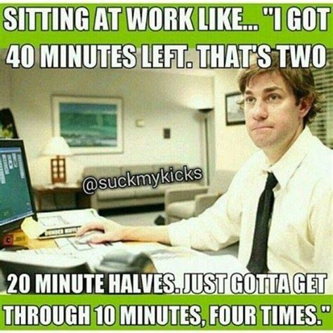 sitting at work like meme