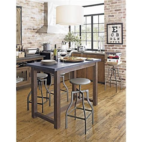 island tables for kitchen with chairs turner gunmetal adjustable backless bar stools and linen