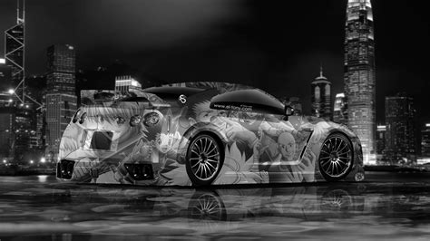 nissan gtr  tuning anime aerography city car  el tony