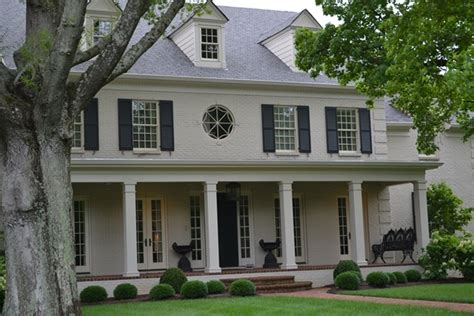 More Painted Brick Homes{and My Favorite!}  Beneath My