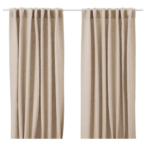 aina curtains 1 pair beige 145x250 cm ikea