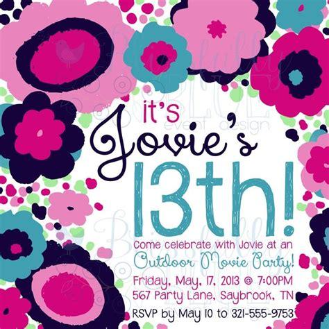 13th Birthday Party Invitation Wording 13th birthday