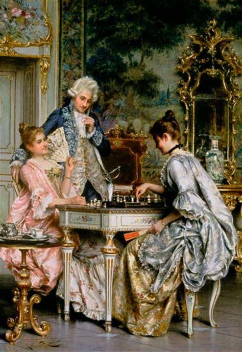 chess   rococo period arturo ricci  art
