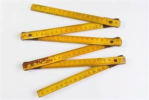 German Measurer Wooden Folding Ruler Measuring by