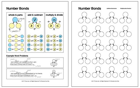 Number Bonds (math Facts Families) Chart And Worksheet