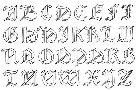german alphabet clipart