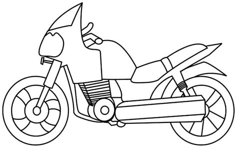 Motorcycle Clipart Coloring