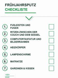 Wohnung Putzen Checkliste : fr hjahrsputz checkliste tipps der oft vergessenen ecken ~ Lizthompson.info Haus und Dekorationen