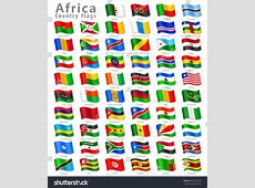 Vector Collection All African National Flags Stock Vector