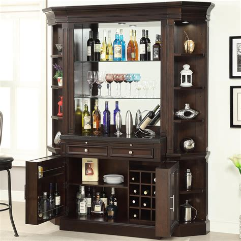 house stanford bar with granite top and wine rack