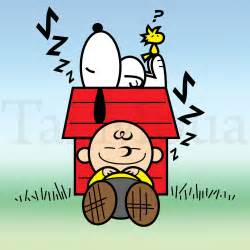 Charlie Brown and Snoopy Sleeping