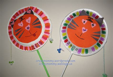 chinese tiger hand drum fun family crafts
