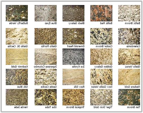 granite countertop names color american hwy