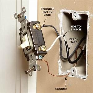 Wall Light Switch Wiring