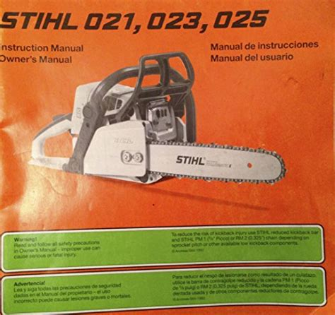 Stihl Chainsaw Operating Manual   Buy Chainsaw online