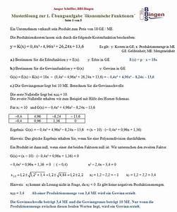 Differenzial Rechnung : untersuchung konomische funktion ~ Themetempest.com Abrechnung