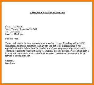 Sle Thank You Email After by Thank You Email After Subject Line Template