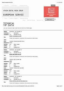 Hitachi Tv Service Manual Download