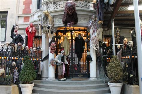 elaborate halloween decorations give  scare   upper