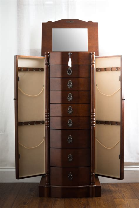 Robyn Jewelry Armoire  Rich Walnut  Hives And Honey