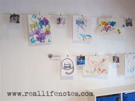 kids art display ikea hack real life notes