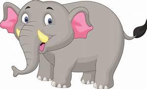 Lovely cartoon elephant vector Free vector in Encapsulated