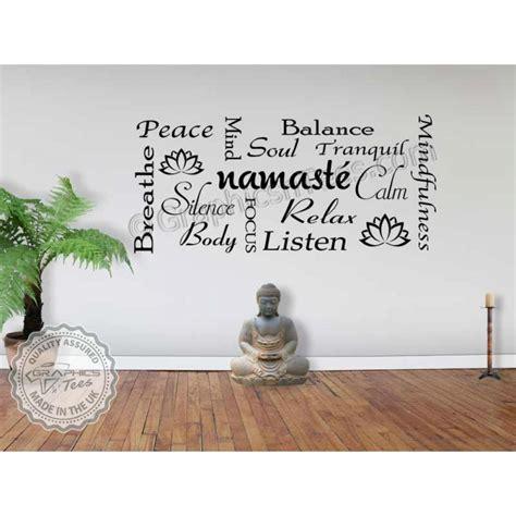 namaste yoga quote wall sticker yoga studio wall art