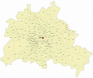 Berlin Plz Karte : postleitzahlenkarte berlin vectorkarten ~ One.caynefoto.club Haus und Dekorationen