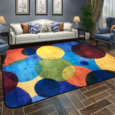 modern colorful endless carpets  living room home