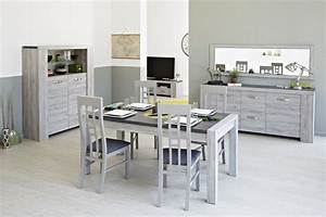 table salle a manger bois clair digpres With salle a manger grise