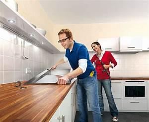 Hornbach Wasserhahn Küche : anleitung f r heimwerker arbeitsplatte einbauen ~ Orissabook.com Haus und Dekorationen